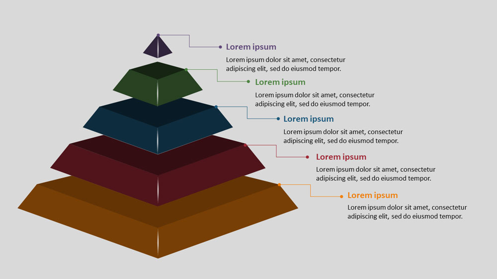 5 step 3D pyramid Infographic