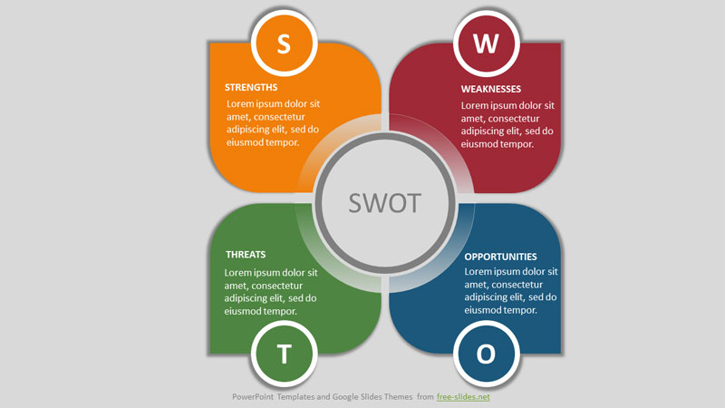 Petals SWOT Analysis Infographic Powerpoint Template