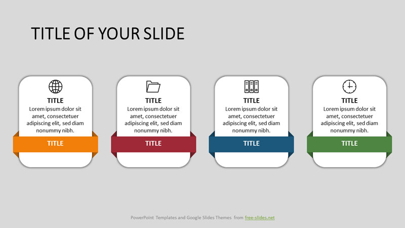 rectangular shapes powerpoint infographic template