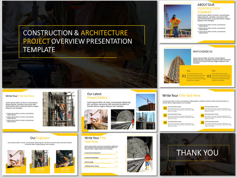 Construction and architecture project presentation template