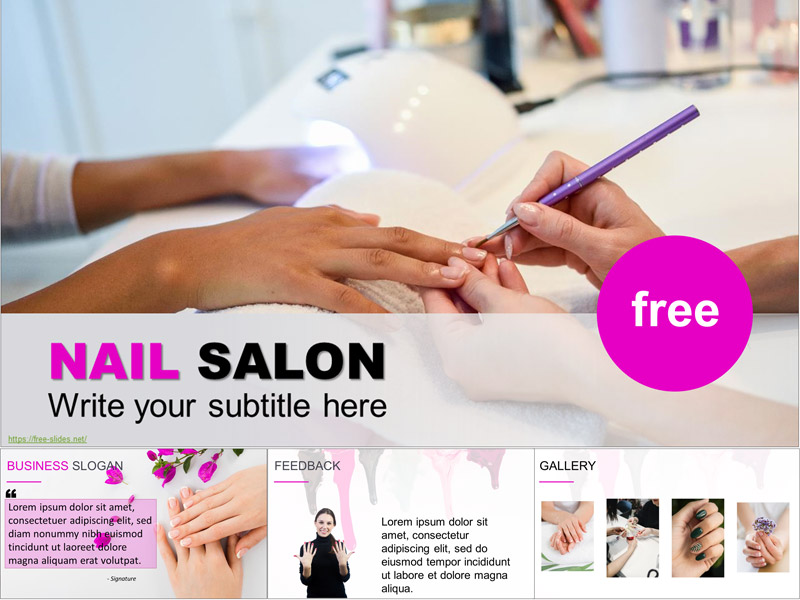 Nail Salon PowerPoint Template and Google Slides Theme