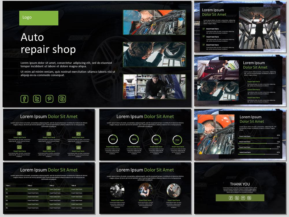 Auto Repair Template Free from free-slides.net