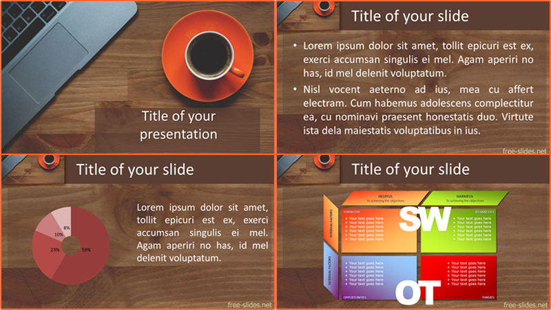 free Cup of coffee PowerPoint template from free-slides.net