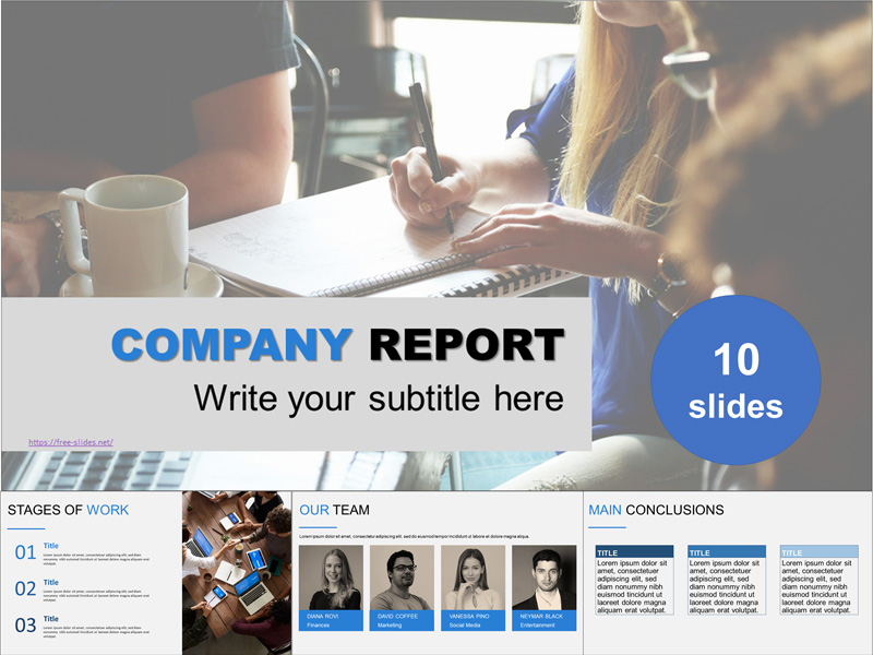 Сompany report free powerpoint template
