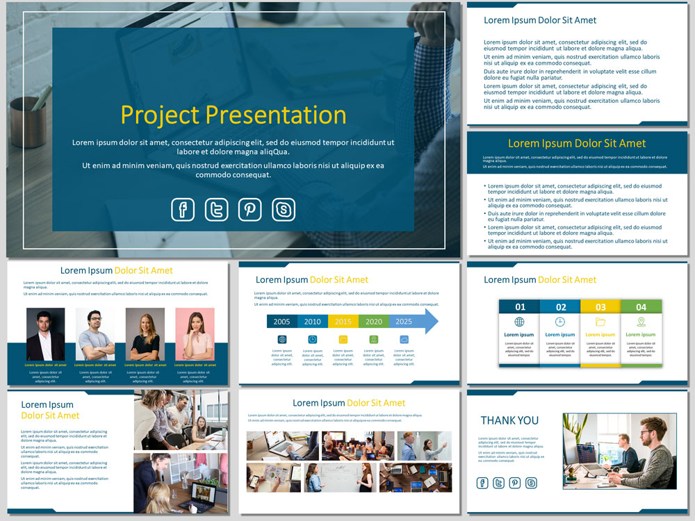 Free project presentation template