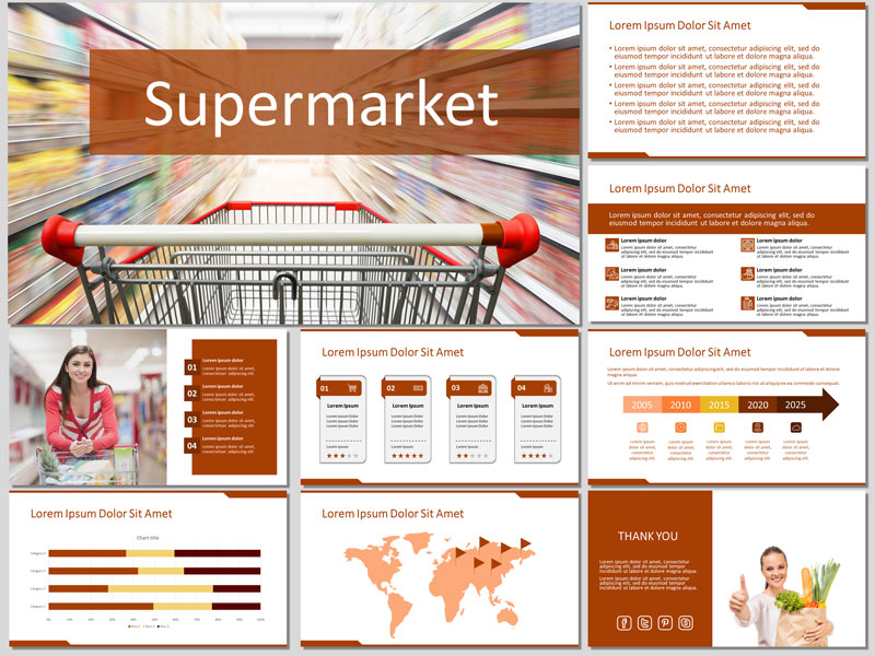 Supermarket PowerPoint Template and Google Slides Theme