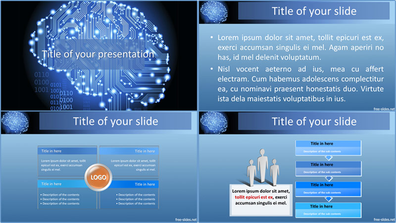 Artificial intelligence powerpoint template from free-slides.net