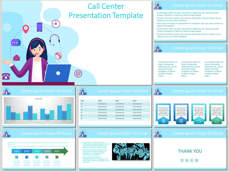 call center free presentation template