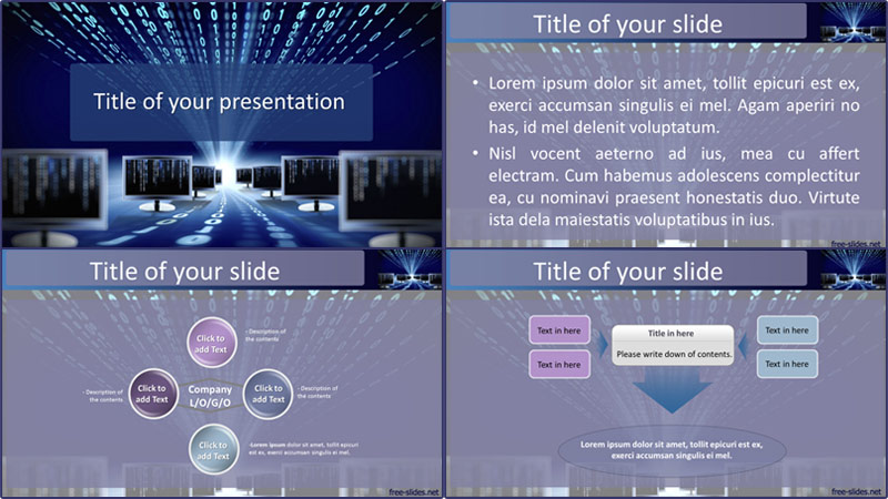 Computer powerpoint template from free-slides.net