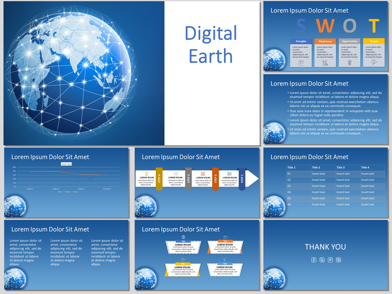 Digital Earth - Free Presentation Templates