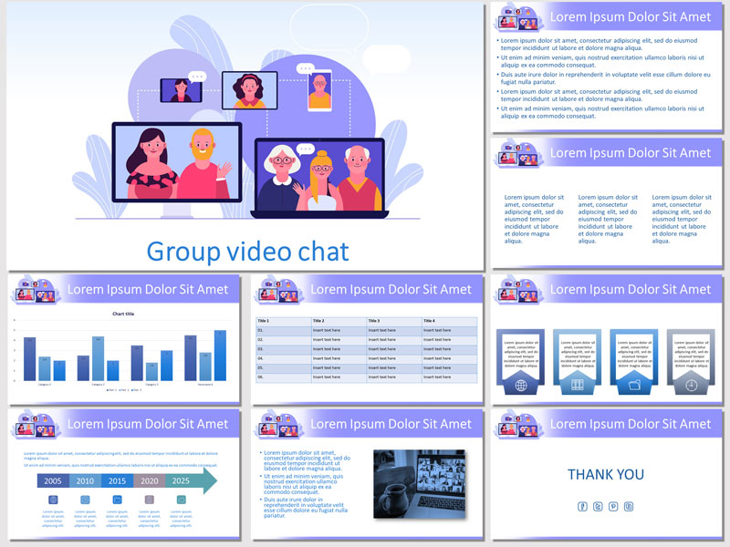 group video chat free presentation template