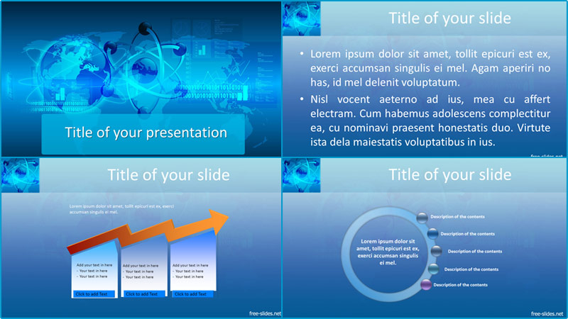 Internet powerpoint template from free-slides.net
