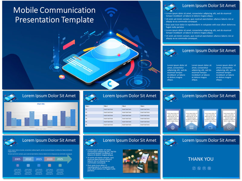 mobile communication free presentation template