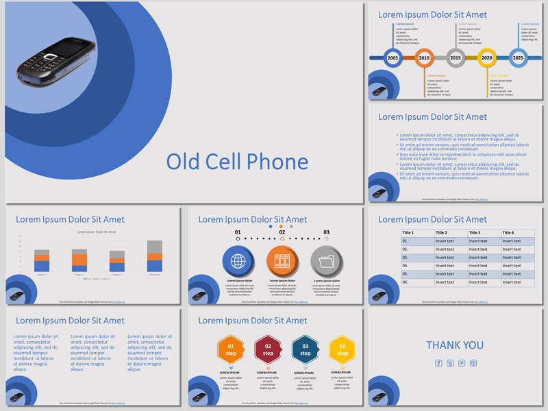 Old Cell Phone Presentation Template