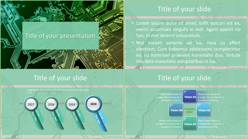 Printed circuit boardpowerpoint template from free-slides.net