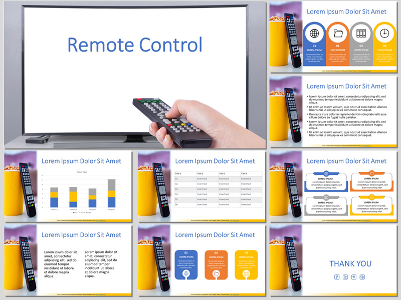 Remote Control Presentation Template