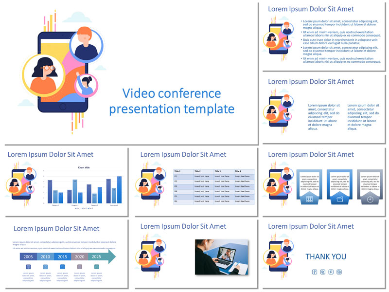 video conference free presentation template