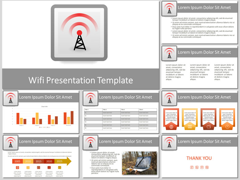 wifi presentation template for free