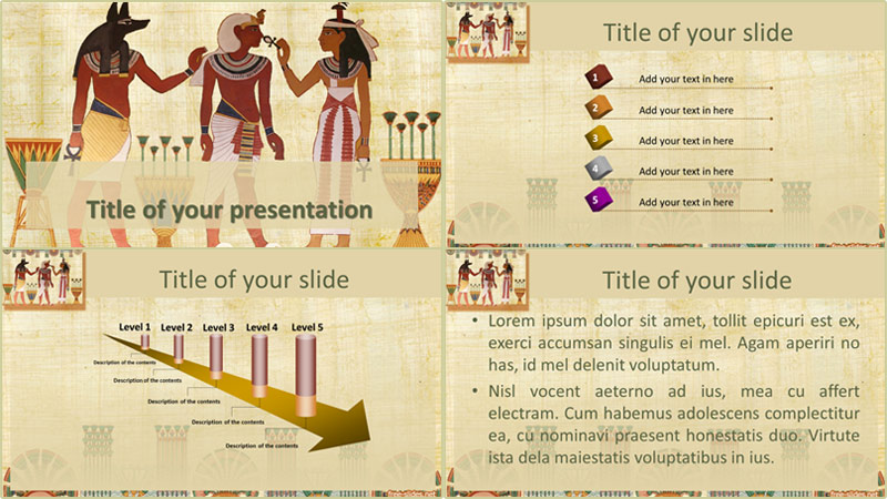 Ancient Egypt powerpoint template from free-slides.net