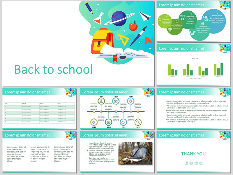 Back to school presentation template