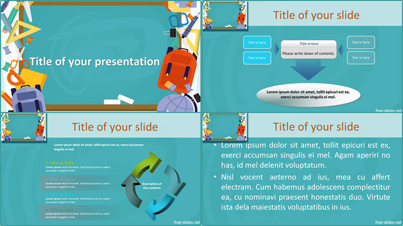 Blackboard powerpoint template from free-slides.net