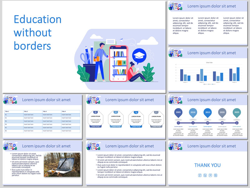 Education without borders presentation template