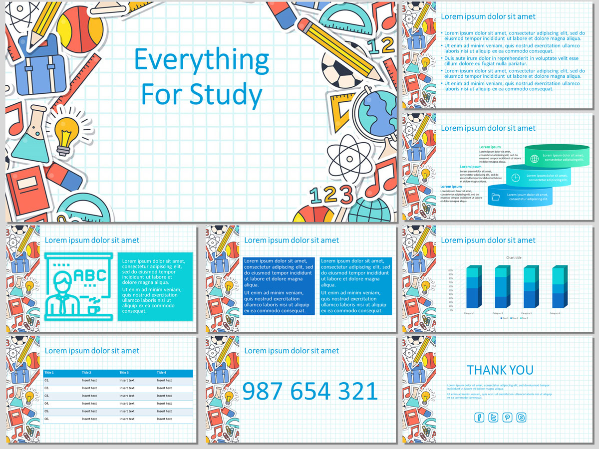Everything for Study - Free PowerPoint Template and Google Slides Theme