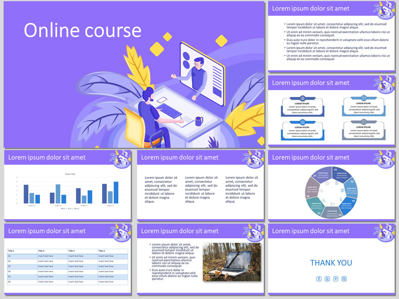 Online course presentation template