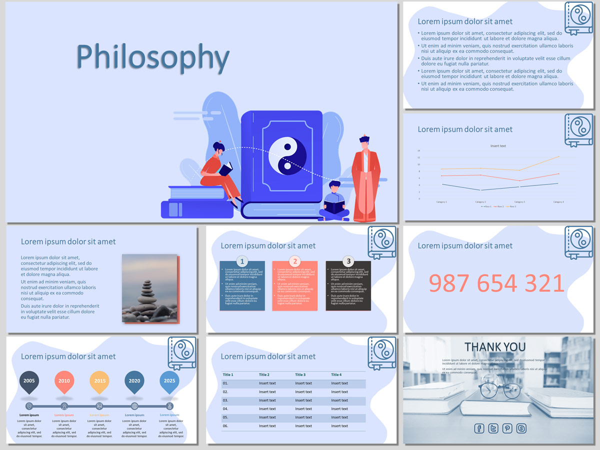 Philosophy - Free PowerPoint Template and Google Slides Theme