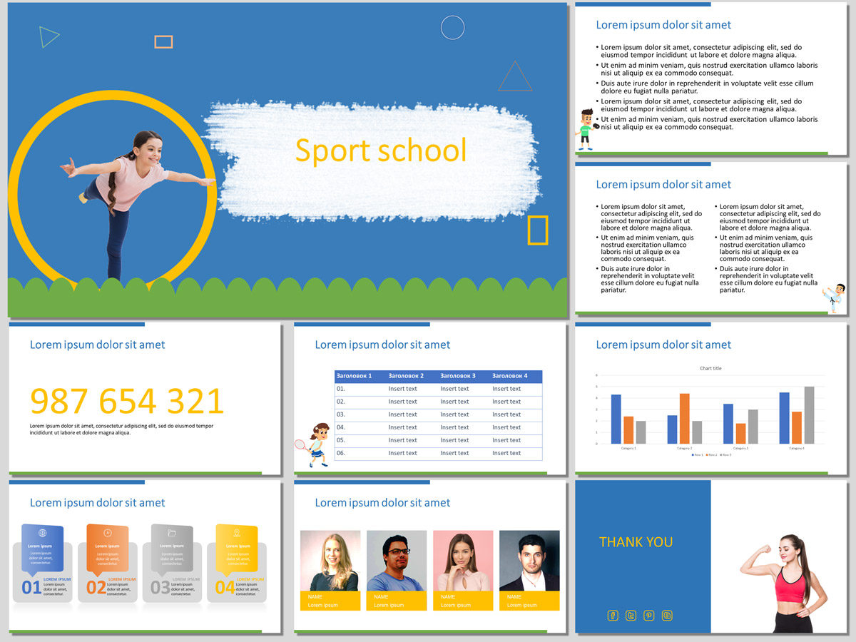 Sport School - Free Presentation Template