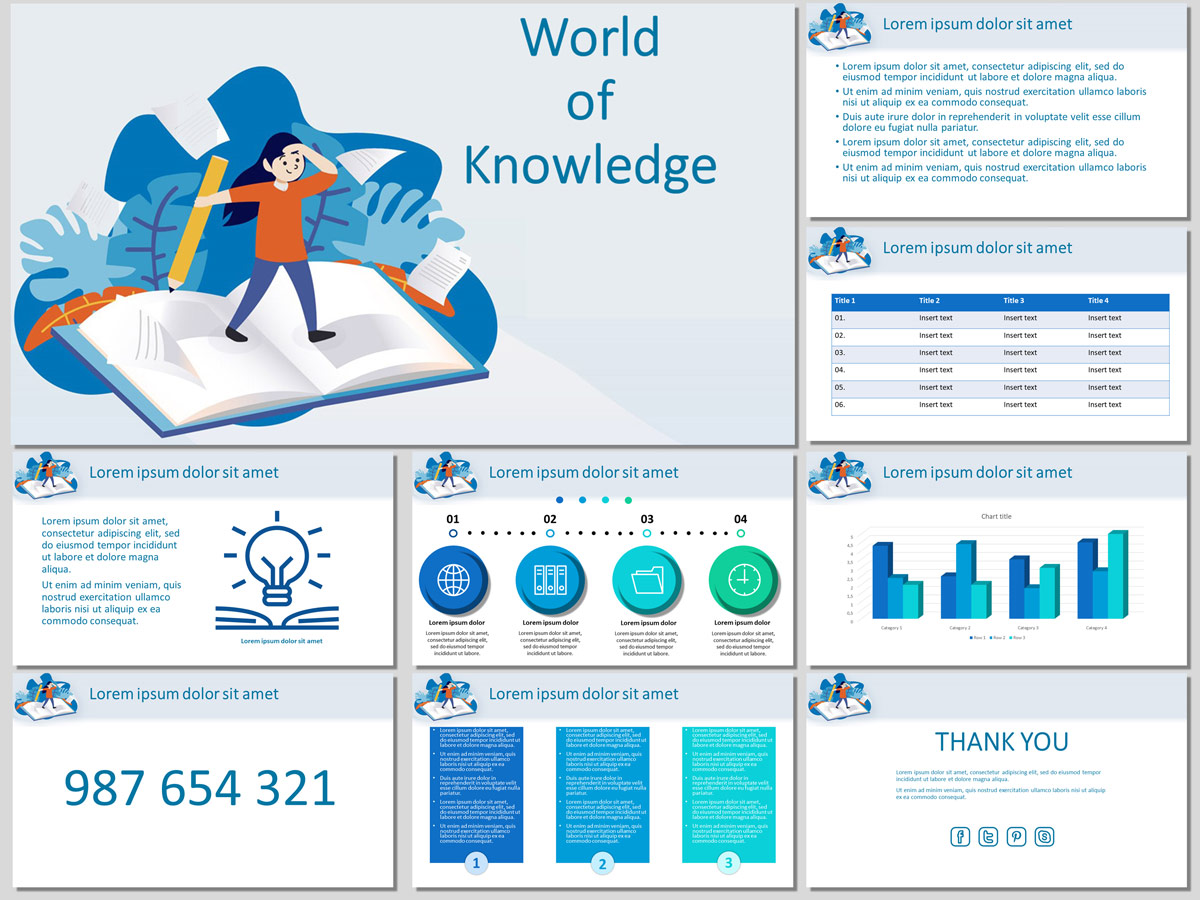 World of Knowledge - Free PowerPoint Template and Google Slides Theme