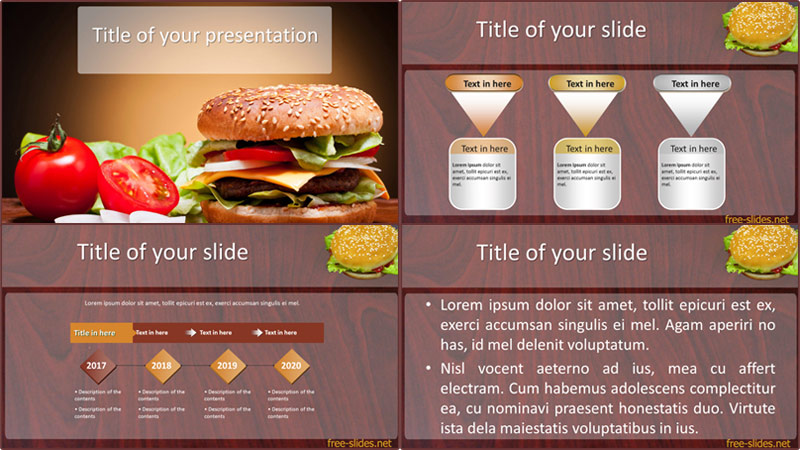 Burger powerpoint template from free-slides.net