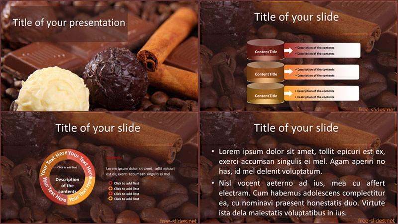 Chocolate powerpoint template from free-slides.net