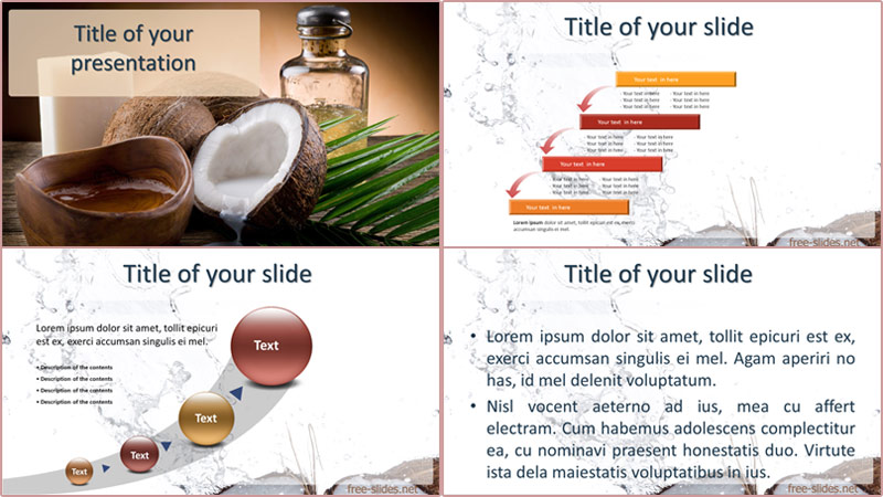 Coconut powerpoint template from free-slides.net