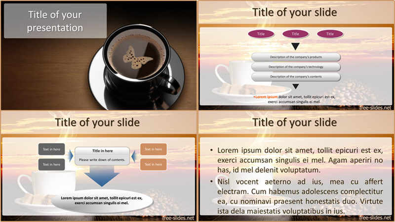 coffee powerpoint template widescreen