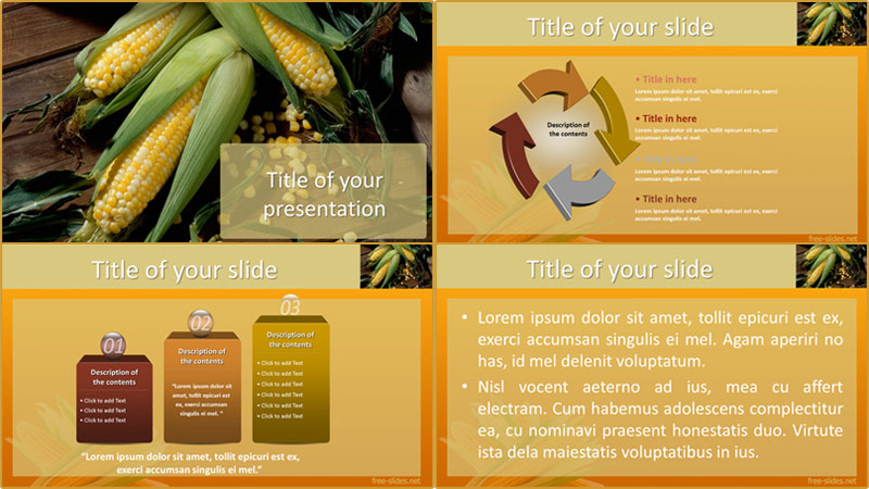 Corn powerpoint template from free-slides.net