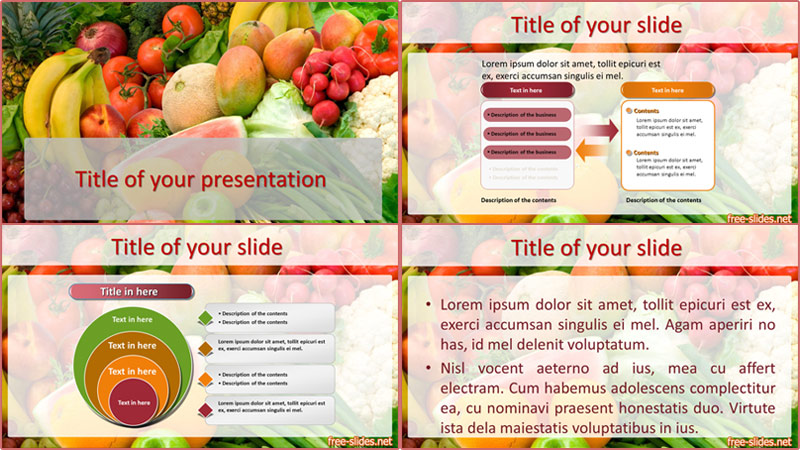 Fruit powerpoint template from free-slides.net