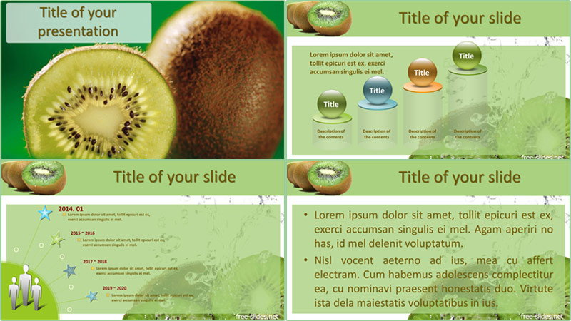 Kiwi powerpoint template from free-slides.net