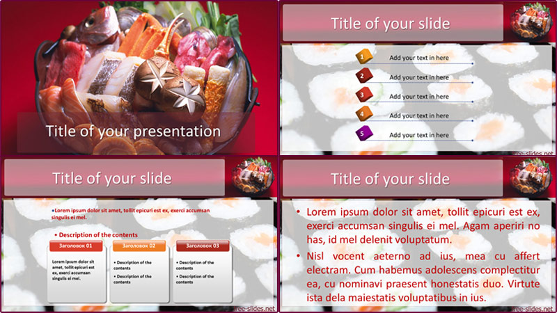 Sushi powerpoint template from free-slides.net