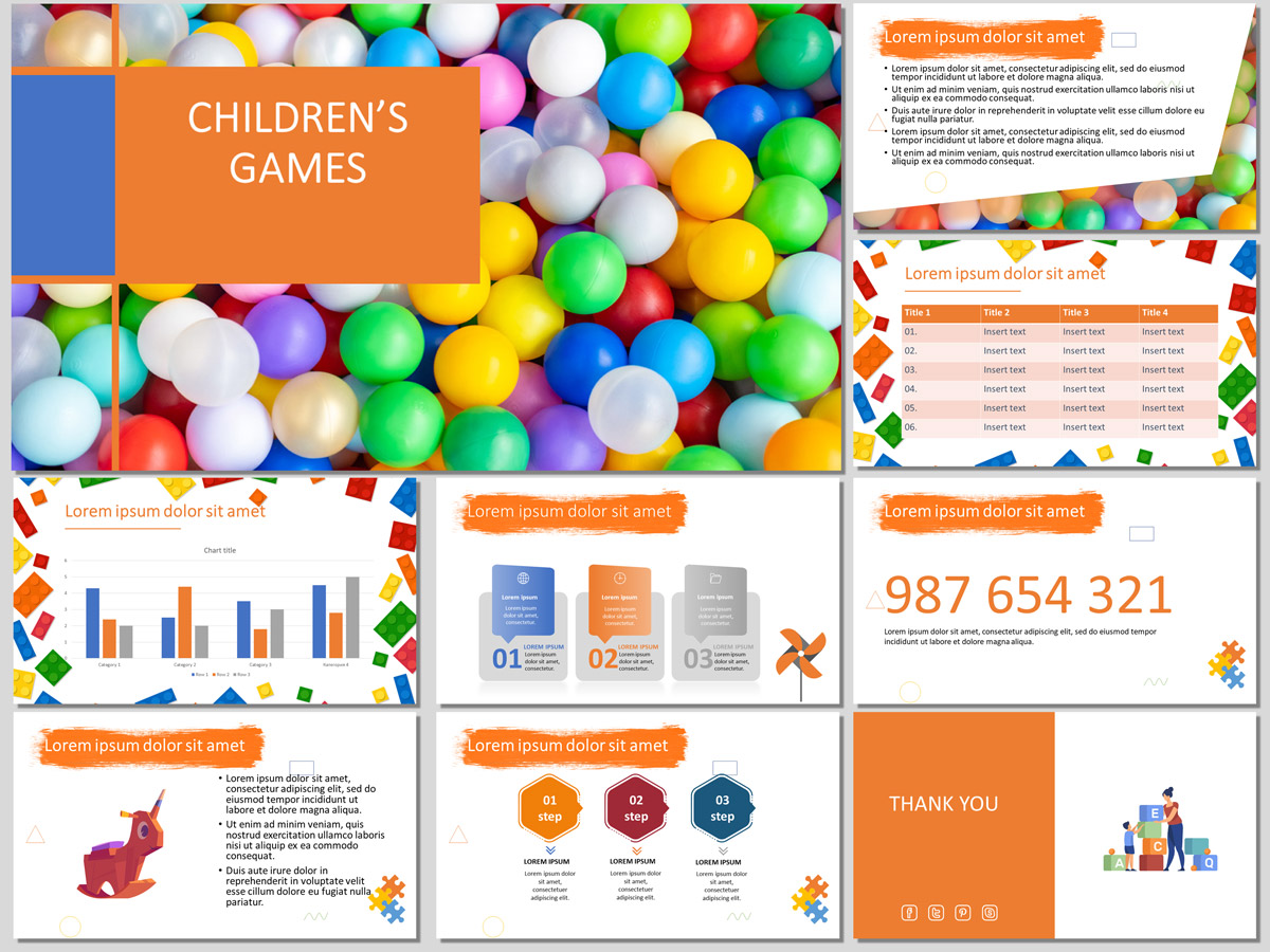 Children's Games Presentation Template (Free)