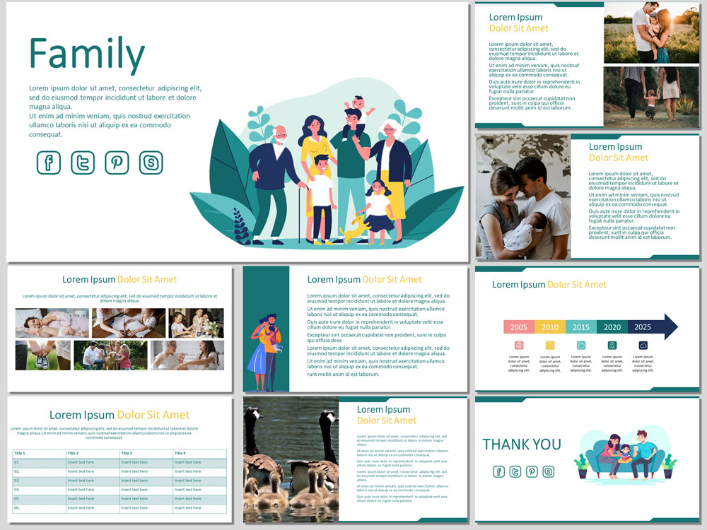 family free powerpoint template
