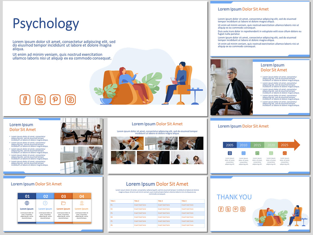 Psychology free presentation template