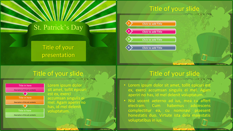 St.Patricks day powerpoint template from free-slides.net