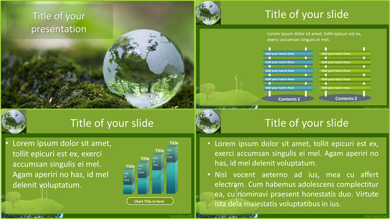 Earth day powerpoint template from free-slides.net