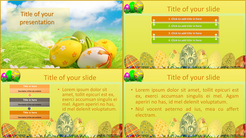 Easter powerpoint template from free-slides.net