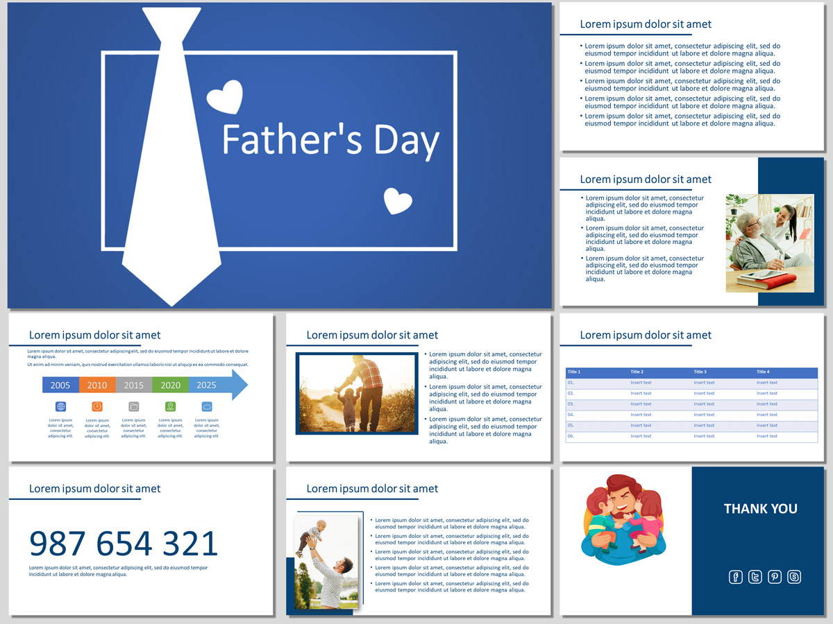 Father's Day PowerPoint Template and Google Slides Theme