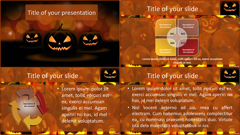 Hallowen powerpoint template from free-slides.net