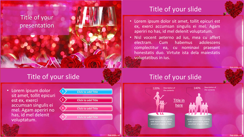 Valentines day powerpoint template from free-slides.net