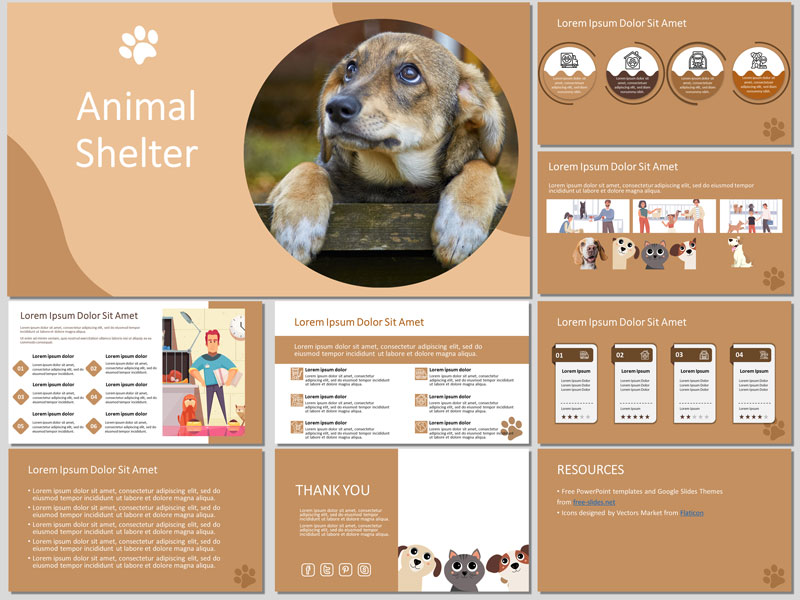 Free Animal Shelter PowerPoint Template and Google Slides Theme