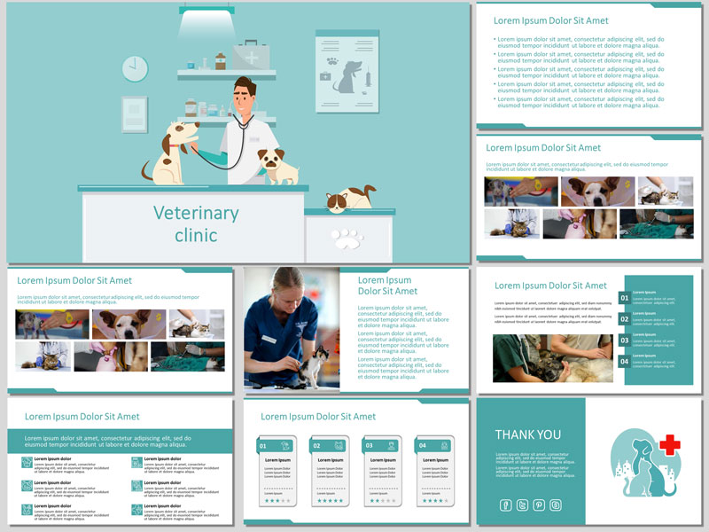 Free Veterinary Clinic PowerPoint Template and Google Slides Theme